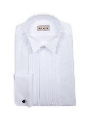 Smokingskjorte med vanlig snipp og plisse Sort hvitt